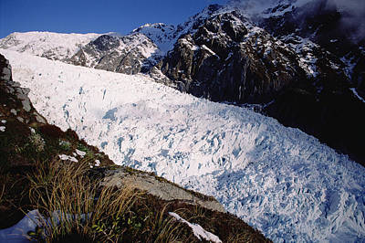 Fox Glacier Photograph - Upper Fox Glacier Westland Np New by Tui De Roy