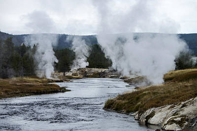 Photograph - Upper Geyser Basin, Yellowstone Np, Wy by Mark Newman