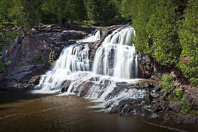 Photograph - Upper Gooseberry Falls In Minnesota No. 4530 by Randall Nyhof