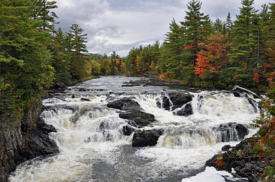 Photograph - Upper Grand Falls East Penobscot River by Glenn Gordon