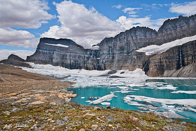 Upper Grinnell Lake And Glacier Art Print