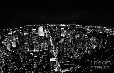 Upper Manhattan Night New York City Skyline Cityscape View  Art Print by Joe Fox