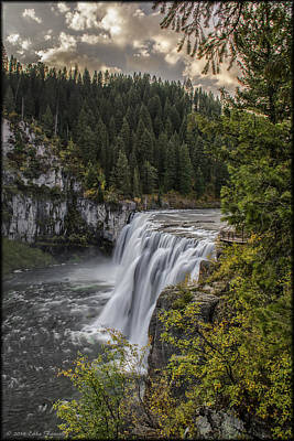 Photograph - Upper Mesa Falls by Erika Fawcett