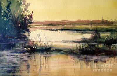 Painting - Upper Penninsula Marsh by Sandra Strohschein