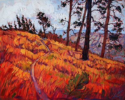 Zion Park Painting - Upper Plateau by Erin Hanson