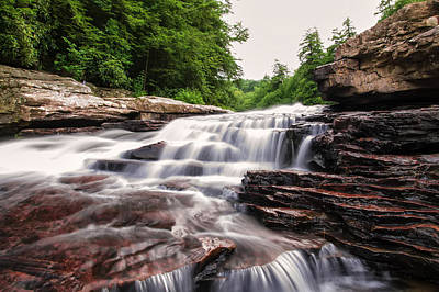 Photograph - Upper Swallow Falls Close Up by Chris Flees