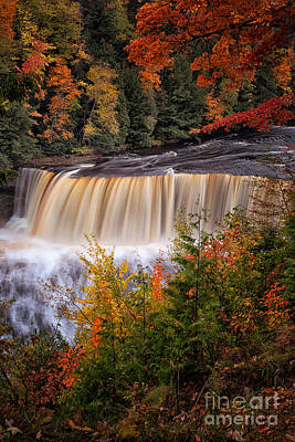 Rivers In The Fall Photograph - Upper Tahquamenon Falls II by Todd Bielby