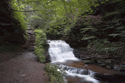 Photograph - Upper Tier Of Mohican Falls by Gene Walls