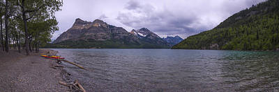 Canoes Photograph - Upper Waterton Lake by Chad Dutson