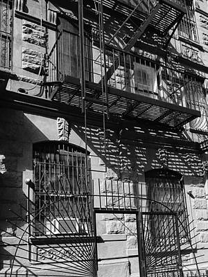 Photograph - Upper West Side Fire Escapes by Cornelis Verwaal