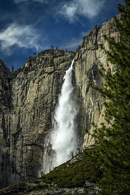 Photograph - Upper Yosemite Fall by Eduard Moldoveanu