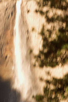 Abstract In Nature Photograph - Upper Yosemite Fall In Yosemite Valley by Phil Schermeister