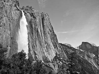 Upper Yosemite Fall With Half Dome Art Print