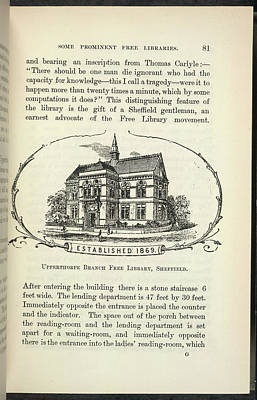 Upperthorpe Branch Free Library Print by British Library