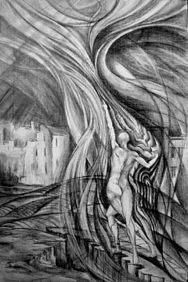 Drawing - Uprising To Heaven  by Mikhail Savchenko