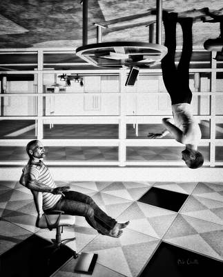Upside Down Conversation Art Print by Bob Orsillo