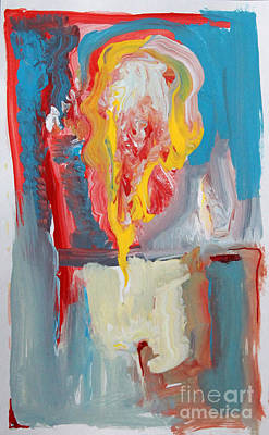 Painting - Upside Down Flame Abstract by Anne Cameron Cutri