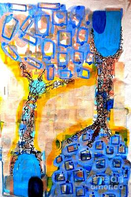 Painting - Upside Down by L Cecka