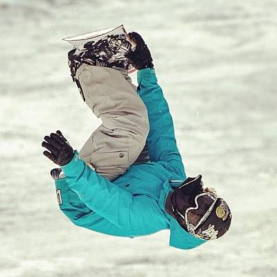 Freestyle Photograph - Upside Down! #snowboard #freestyle by Tobrook Eric gagnon