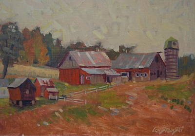Painting - Upstate Farm by Len Stomski