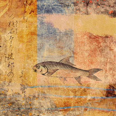 Goldfish Photograph - Upstream by Carol Leigh