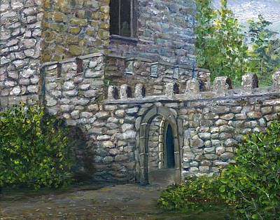 Painting - Upton Castle Gardens by Lenora  De Lude