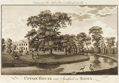 Upton Drawing - Upton House Near Stratford, Essex by Mary Evans Picture Library