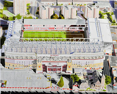 Upton Painting - Upton Park Stadia Art - West Ham United Fc by Brian Casey