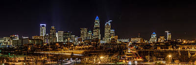 Photograph - Uptown Charlotte Panorama by Randy Scherkenbach