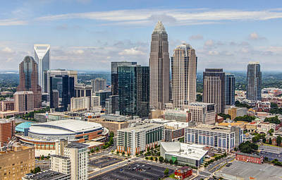 Charlotte Skyline Photograph - Uptown by Chris Austin