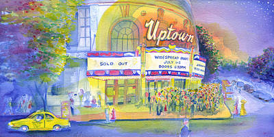 Painting - Uptown Hall Widespread Panic by David Sockrider