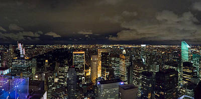 Photograph - Uptown New York And Central Park At Night by Gary Eason