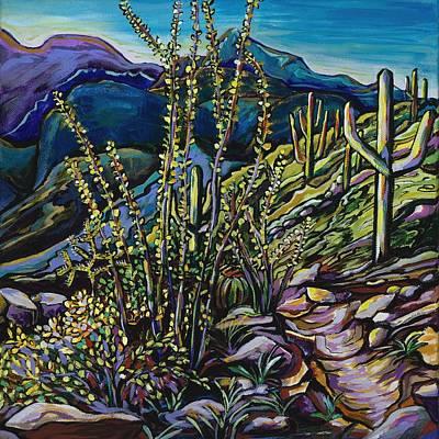 Saguaro Painting - Upward Path by Alexandria Winslow