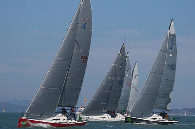Sausalito Photograph - Upwind At The Start by Steven Lapkin