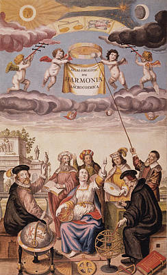 Astronomers Painting - Urania & Astronomers, 1660 by Granger