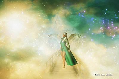 Digital Art - Urania Angel  by Riana Van Staden