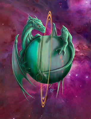 Digital Art - Uranus Dragon by Rob Carlos