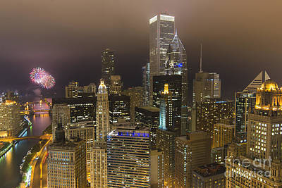 Abstract Male Faces - Urban Fireworks Chicago by Jeff Lewis