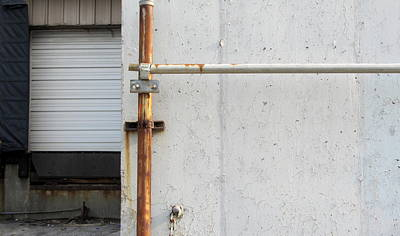 Photograph - Urban Abstract Pipe And Dock 1 by Anita Burgermeister