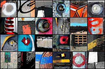 Urban Abstracts Top 24 Art Print by Marlene Burns