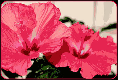 Photograph - Urban Art Hibiscus 14 by Kathy Sampson