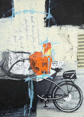 Mixed Media - Urban Bicycle by Elena Nosyreva