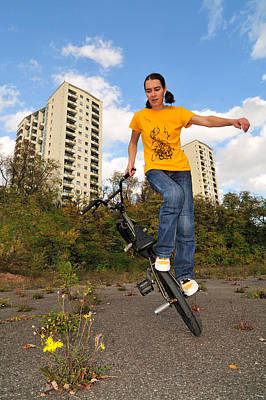 Photograph - Urban Bmx Flatland With Monika Hinz by Matthias Hauser