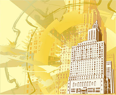 Urban Building Background Art Print