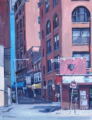 Boston Painting - Urban Canyon Chinatown by Deb Putnam