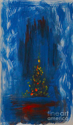 Painting - Urban Christmas Tree by Anne Cameron Cutri
