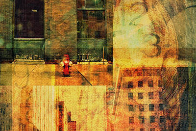 Urban Collage Art Print
