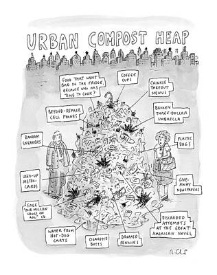 Urban Compost Heap Art Print