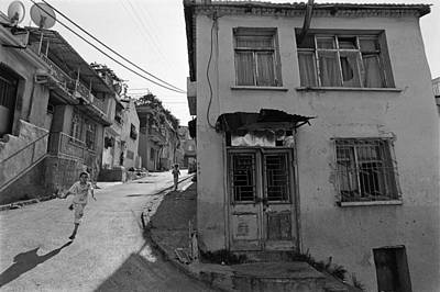 Urban Decay And Children Print by Ilker Goksen