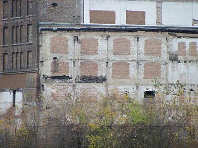 Photograph - Urban Decay Bricked Windows 1 by Anita Burgermeister